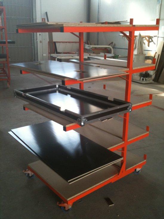 Fabrication Flight case : plateau de préparation de fabrication
