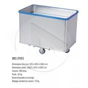 Chariot Aluminium SCLESSIN D1408/350 4 roul. ˆ fond mobile 20/100kg avec pare-chocs