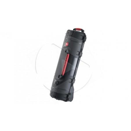 Valise HPRC 6300CW noire avec mousse et roues