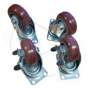 Kit roulettes pour cube-cases PC0350 / PC0370