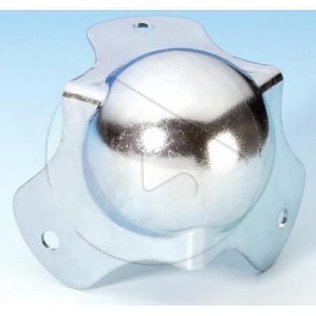 Coin boule médium à pattes courtes - Zinc - AH_4120