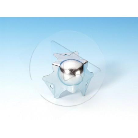 Coin boule PM - à passage de profilé pour 22 mm - zinc - AH_4113