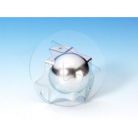 AH_4124 Coin boule médium à passage de profilé pour 30 mm angle - zinc