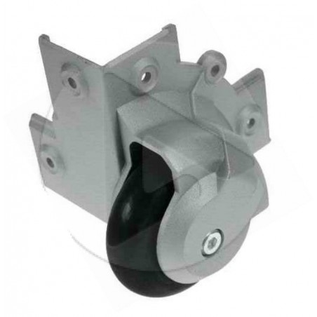 AH_37501 80mm Roulette de surface pour coins -logement renforcé- zinc