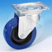 AH_37023 100mm Roulette pivotante Sans Frein - bandage bleu - Zinc