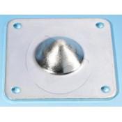 AH_4937 Pied acier empilable male - Zinc