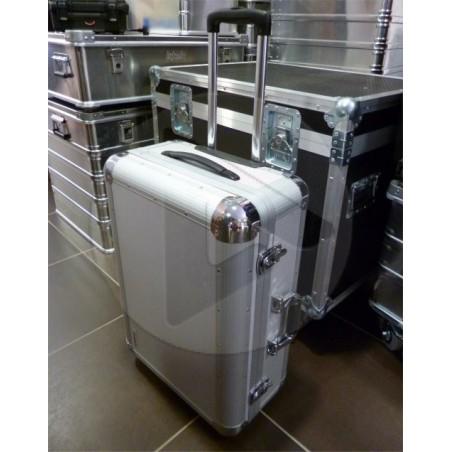 Valise aluminium STS2410P avec mousse prédécoupée + poignée télescopique