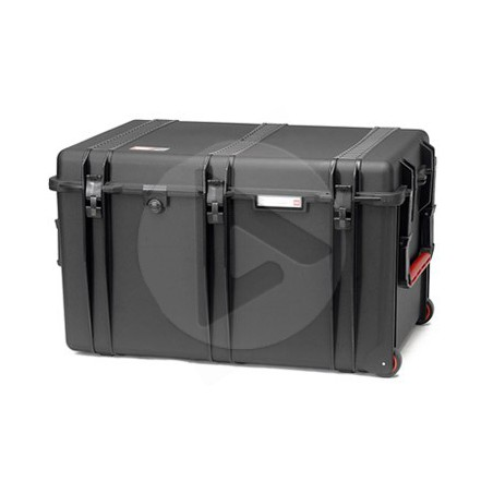 Valise HPRC 2800CW noire avec mousse et roues