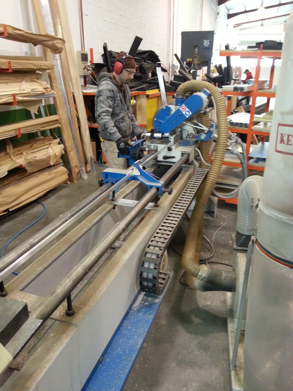 Fabrication Flight case : découpe aluminium