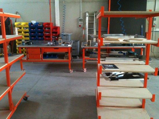 Fabrication Flight case : poste de préparation et assemblage