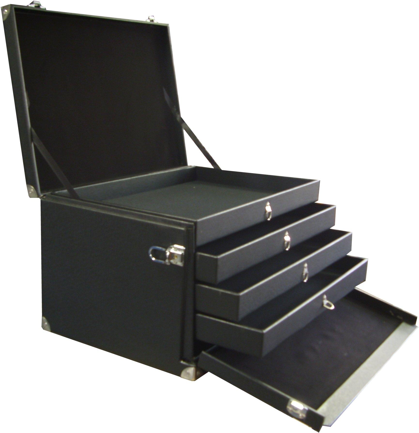 Marmotte à tiroirs pour présentation commerciaux
